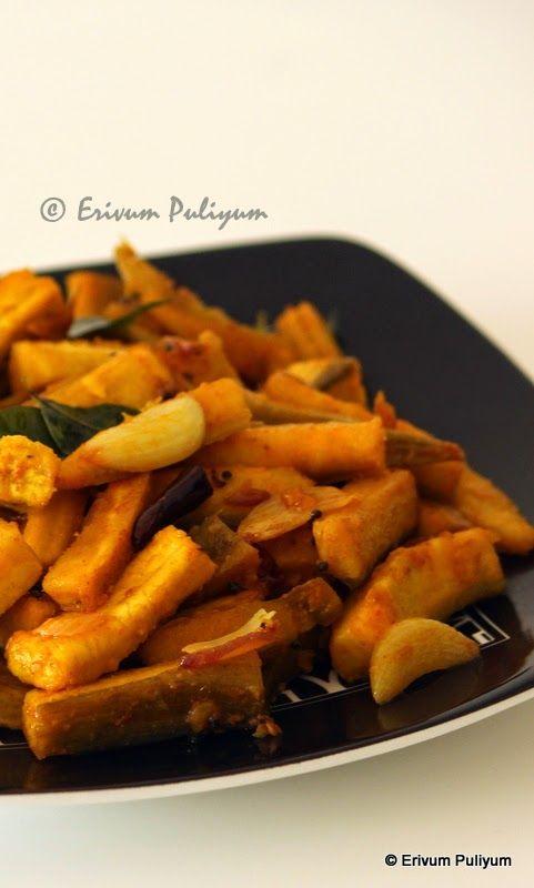 Erivum Puliyum: Kaya Mezhukuparetti | Raw Plantain Stir Fry