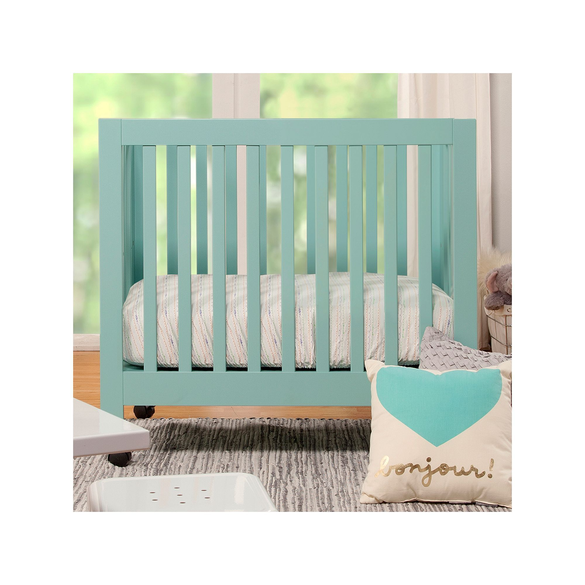 heavenly minky amazon dot baby dp soft piece american com mini portable bedding origami set crib company