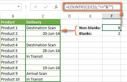 Excel Countif Formula To Count Non Blank Cells Microsoft Excel Formulas Microsoft Excel Tutorial Excel Tutorials