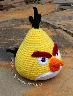 Chuck The Angry Bird Pattern By Nicholes Nerdy Knots Crocheting