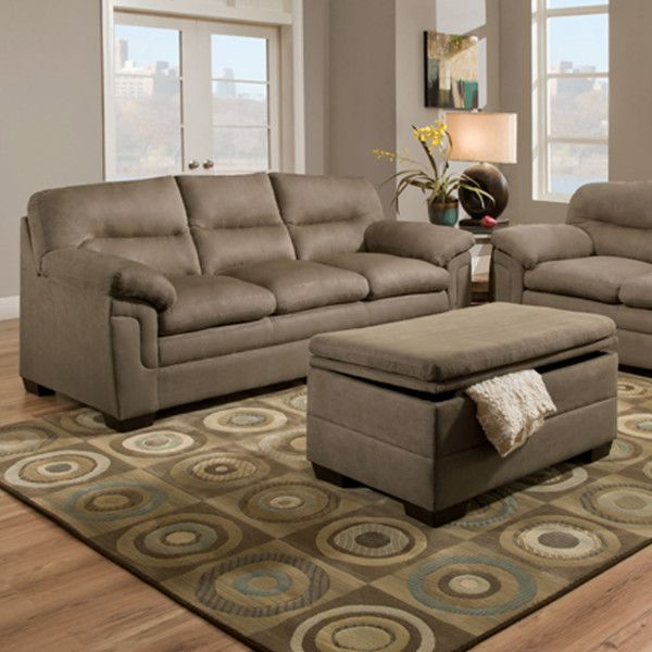 Simmons 3615 Sofa Luna Latte | Hope Home Furnishings And Flooring
