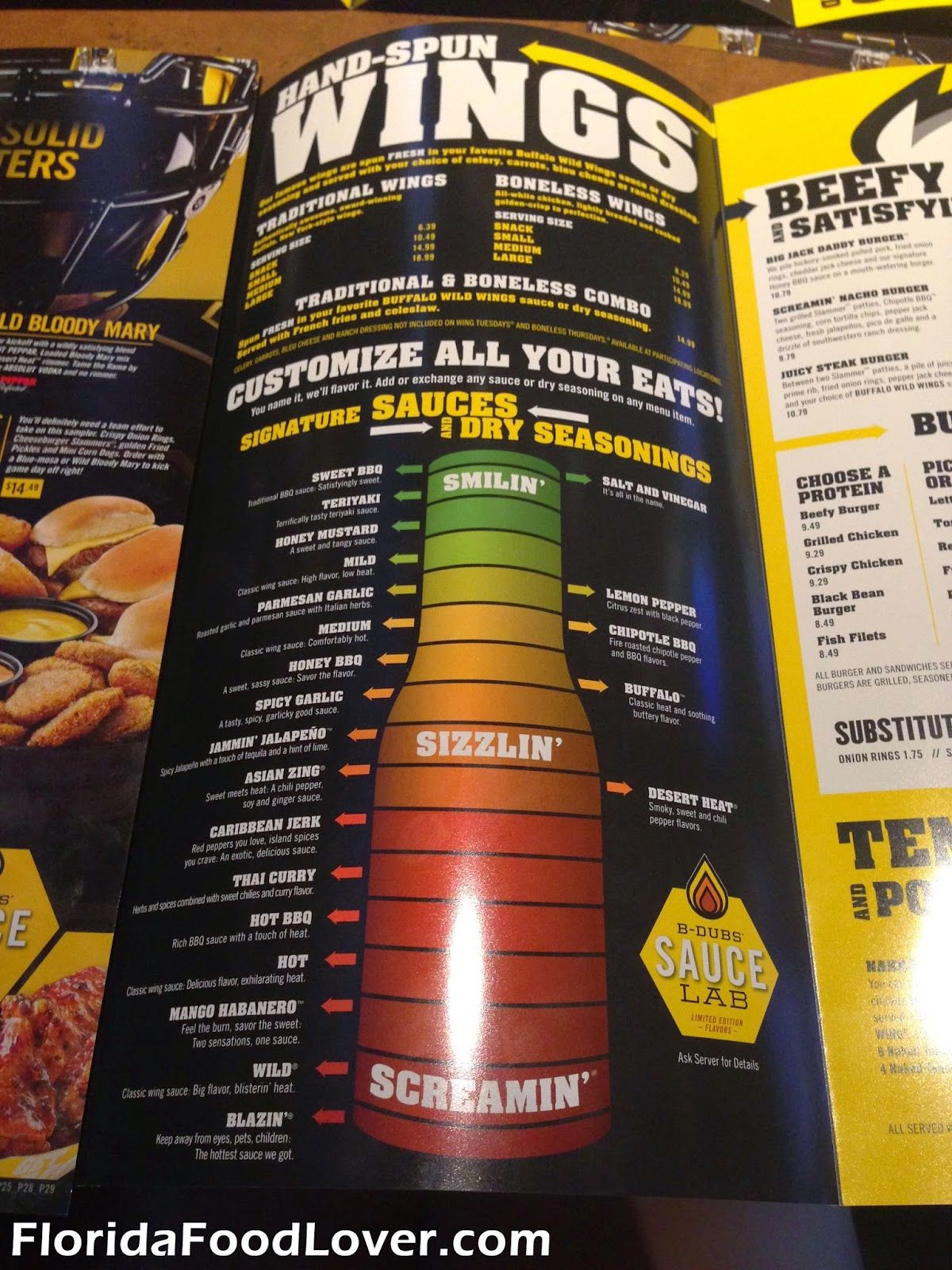 buffalo wild wings menu so need to go have some haven t had it