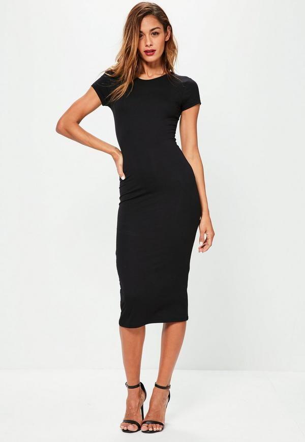 a8f1b446e8d9 Réinventez vos basiques en mode chic avec cette jolie robe mi-longue noire