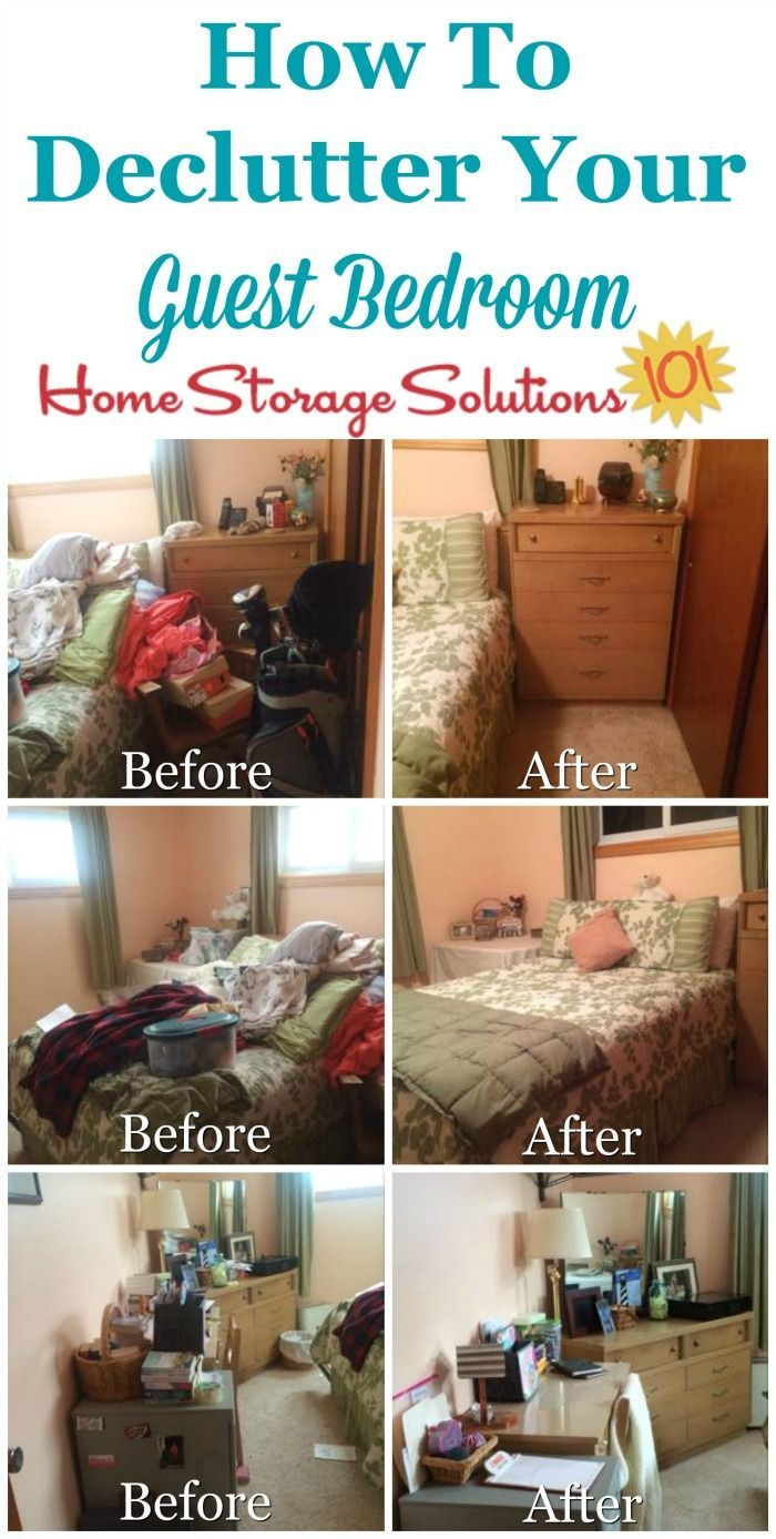 Guest Bedroom Declutter Mission How To Clear The Clutter Declutter Bedroom Declutter Guest Bedroom