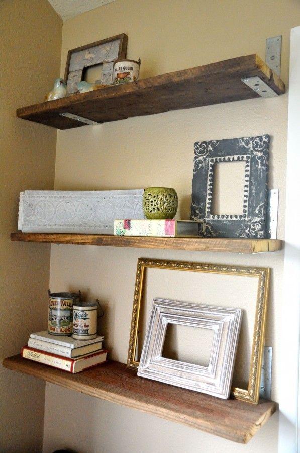 Great Shelving Idea Wood Shelves Decor Homemade Shelves