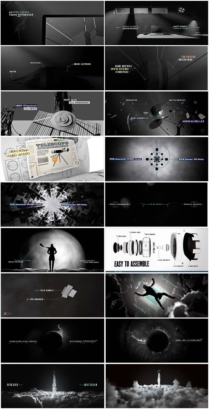 FITC Amsterdam 2012 Title Sequence #motiongraphic