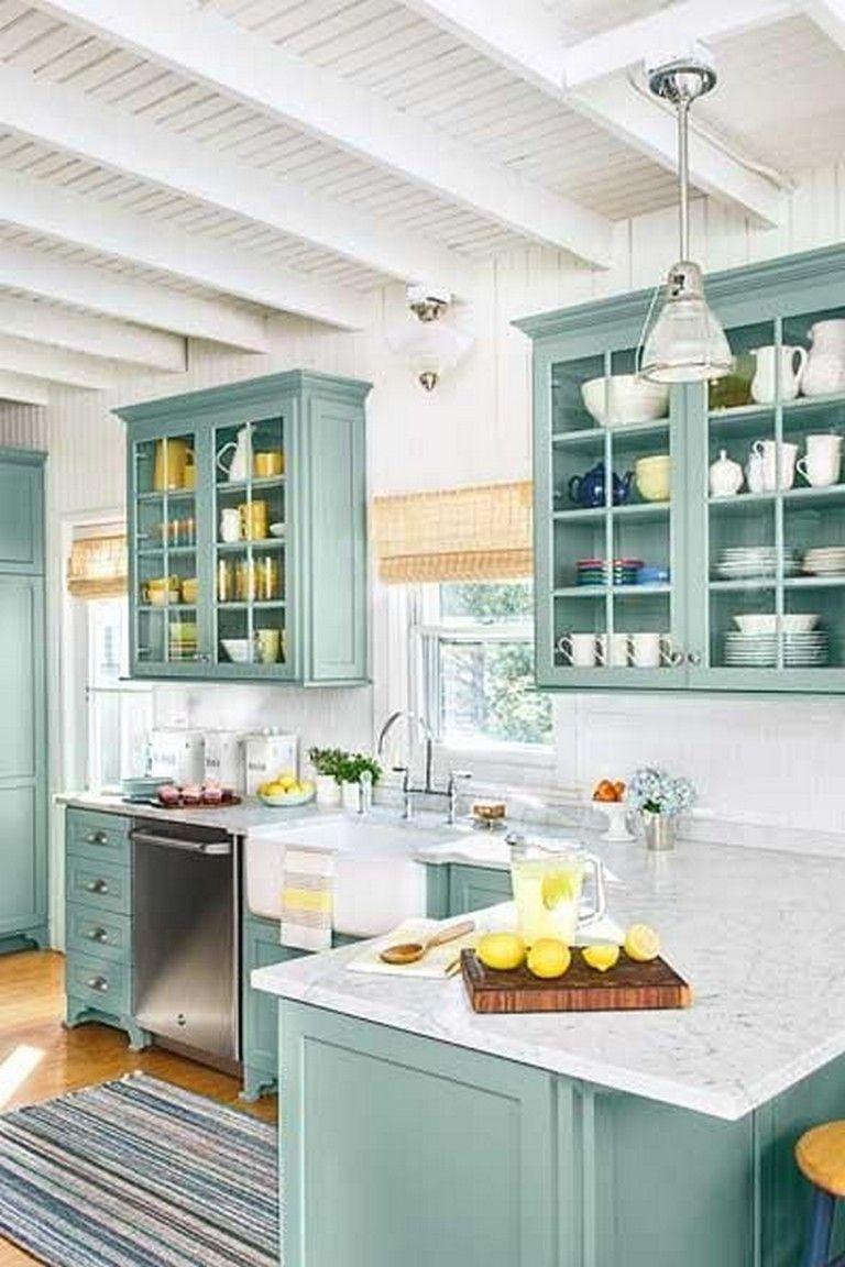 25 Beautiful Kitchen Color Ideas That Will Refresh Your Eyes Kitchen Cabinets Decor Kitchen Cabinet Remodel Coastal Kitchen Decor