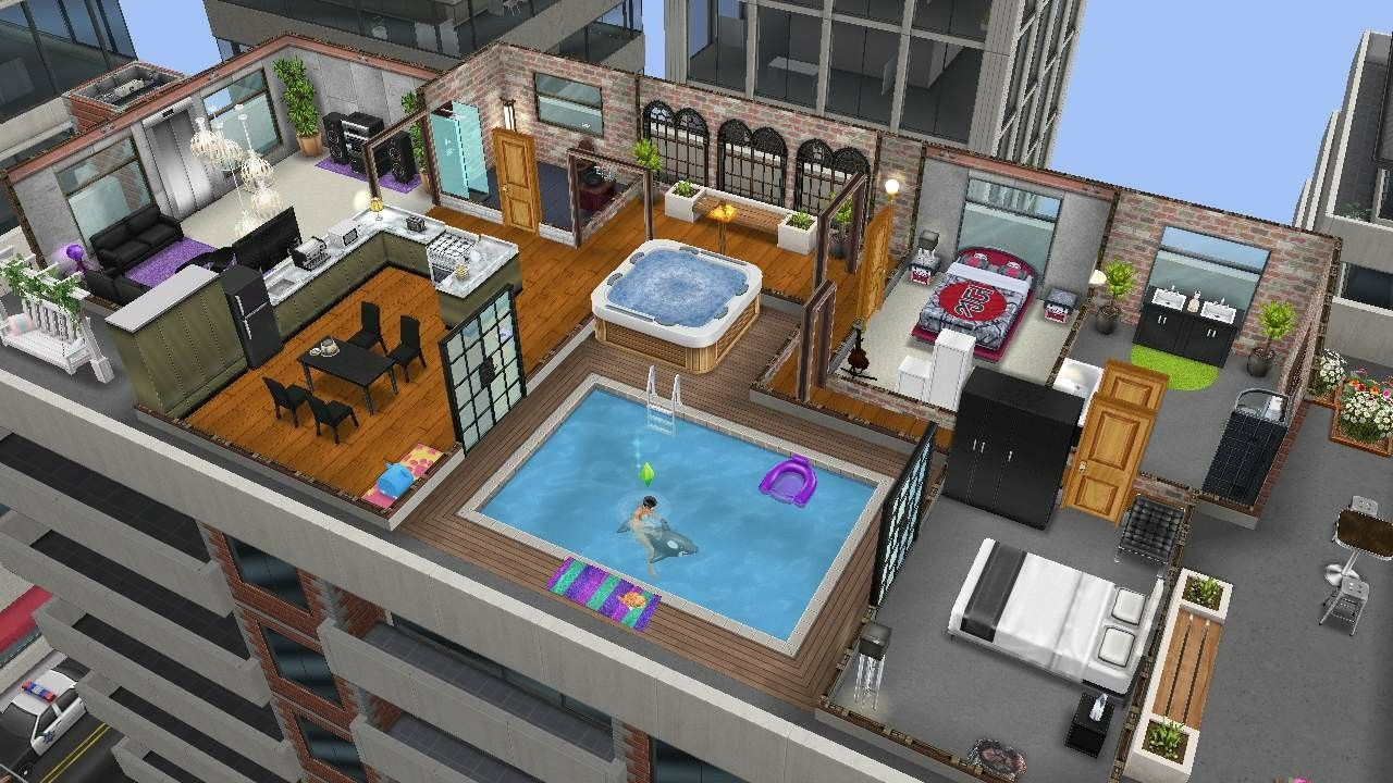 Sims Freeplay City Penthouse Design Sims Freeplay House Styles