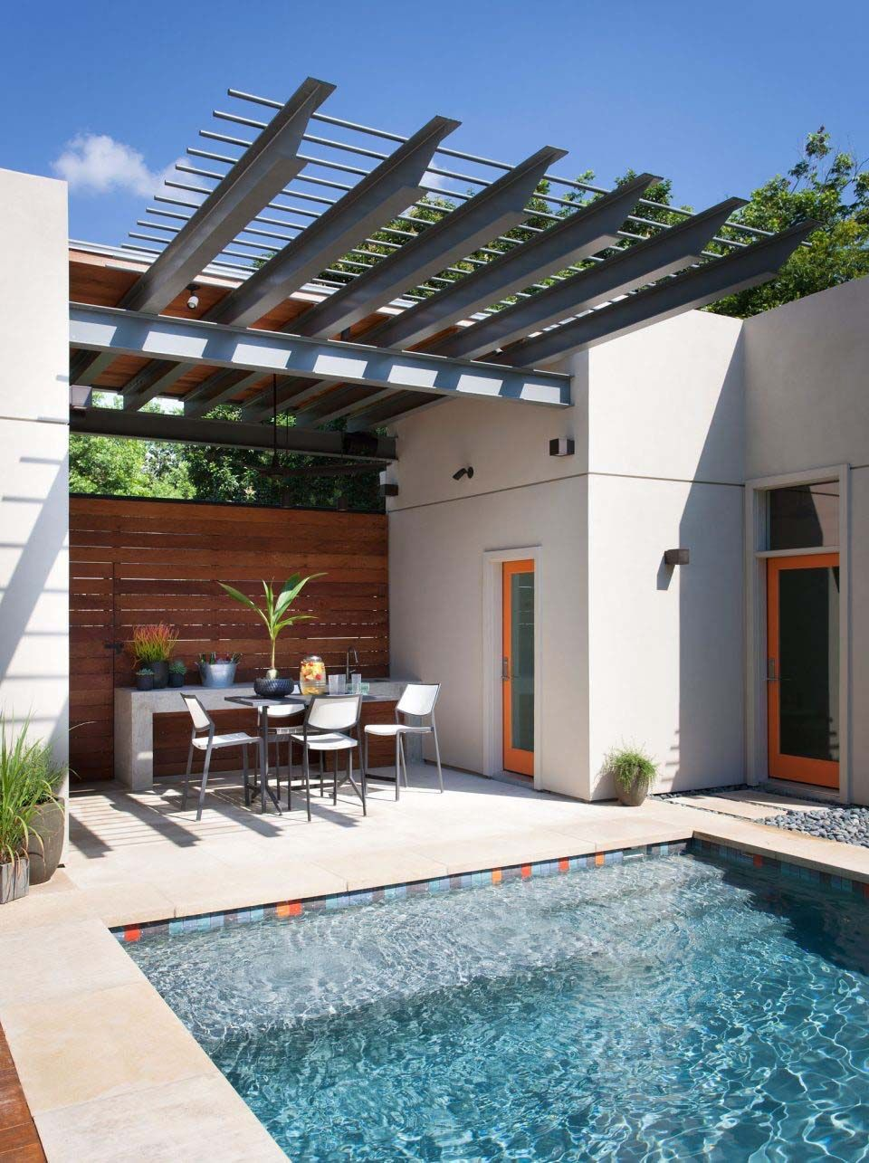 Backyard oasis in Austin with fabulous outdoor living