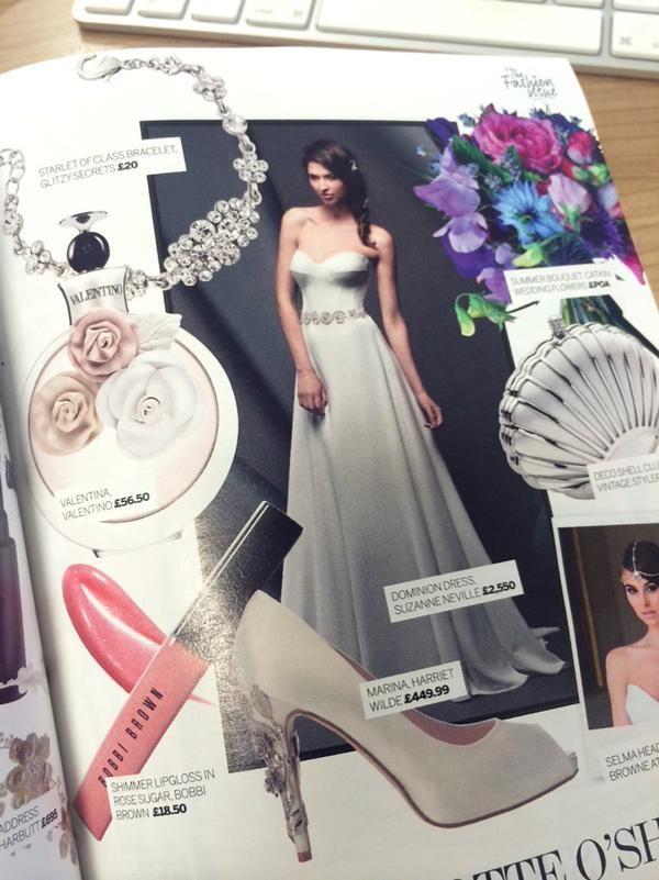 Perfect Wedding Magazine  Feb 2015 Issue. Featuring Suzanne Neville 'Dominon' - Novello 2015 Collection.