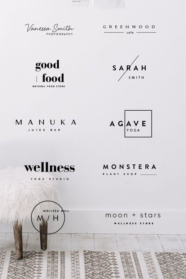 Our logo bundle of 24 pre made logos are designed for minimal style brands. We created this bundle for anyone who wasn't ready quite yet to make a commitment of one of our branding packages or logo services. With this bundle, you can edit the text and colors to customize for you and your brand. All logos are in AI and PSD format so you will need Adobe Illustrator or Photoshop to edit them. If you don't have these installed on your computer, we can customize a logo for you for a small fee.