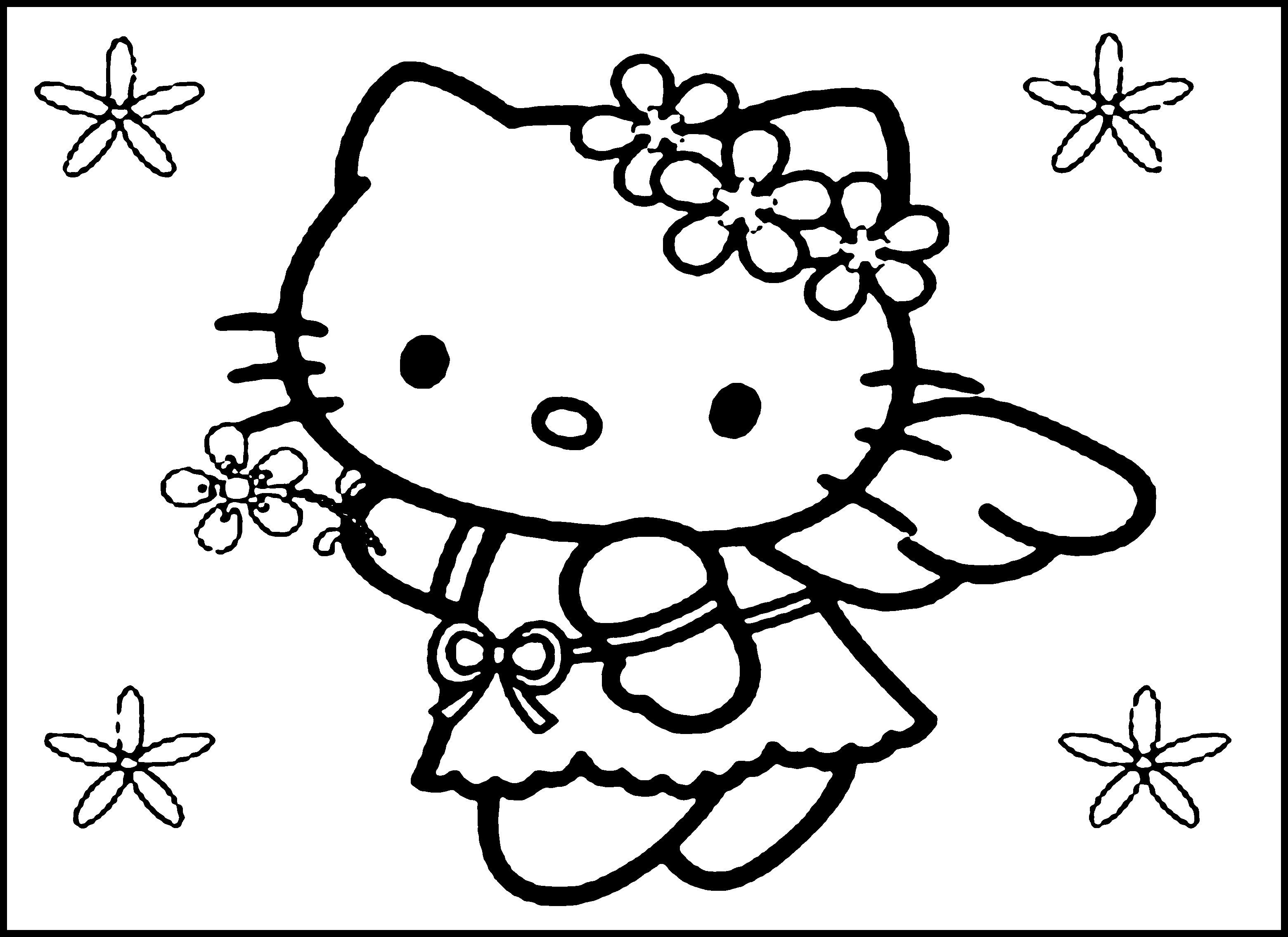 Hello Kitty Mini Coloring Pages - Coloring pages allow kids to