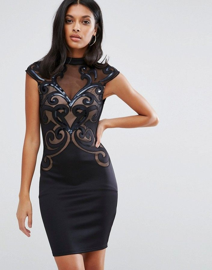 Lipsy Mesh Body-Conscious Dress (With images) | Bodycon ...