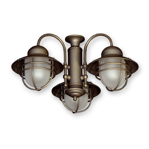 Fl362 Outdoor Rated Ceiling Fan Light Kit Nautical Styling 3 Finishes
