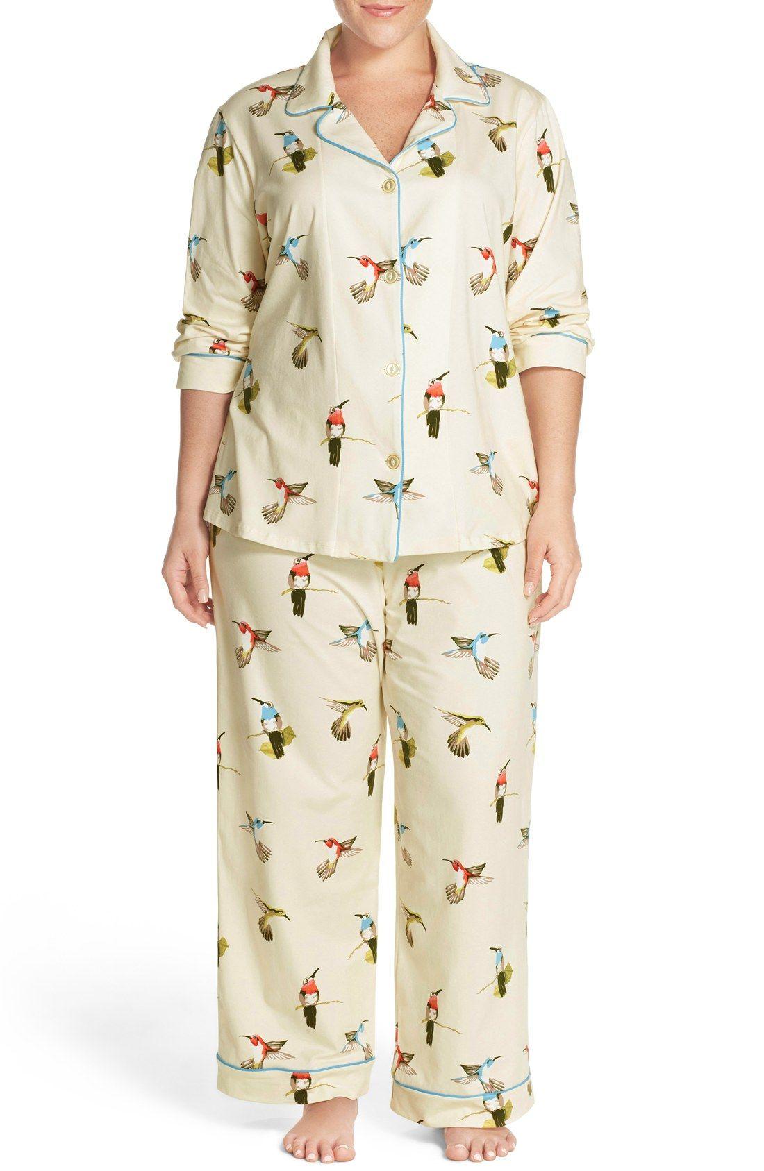 Bedhead Humming Birds Stretch Cotton Pajamas Plus Size Nordstrom Cotton Pyjamas Plus Size Pajamas Stretch Cotton