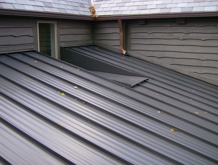 Best Standing Seam Painted Steel Roof View Of Low Sl*P* 640 x 480