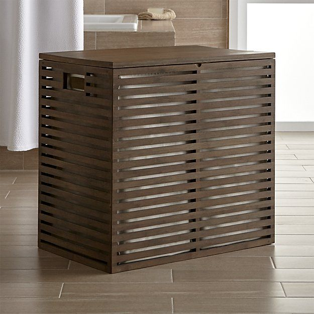 Dixon Large Bamboo Hamper With Liner Laundry Mudroom
