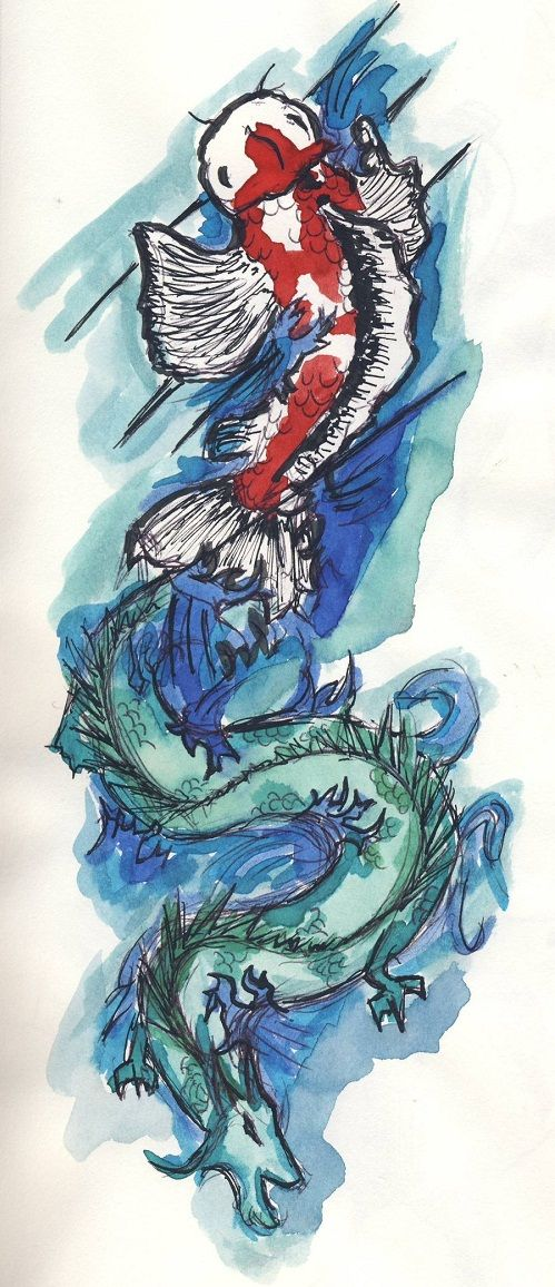 110 Best Japanese Koi Fish Tattoo Designs And Drawings Koi Fish Tattoo Koi Dragon Tattoo Dragon Tattoo With Skull