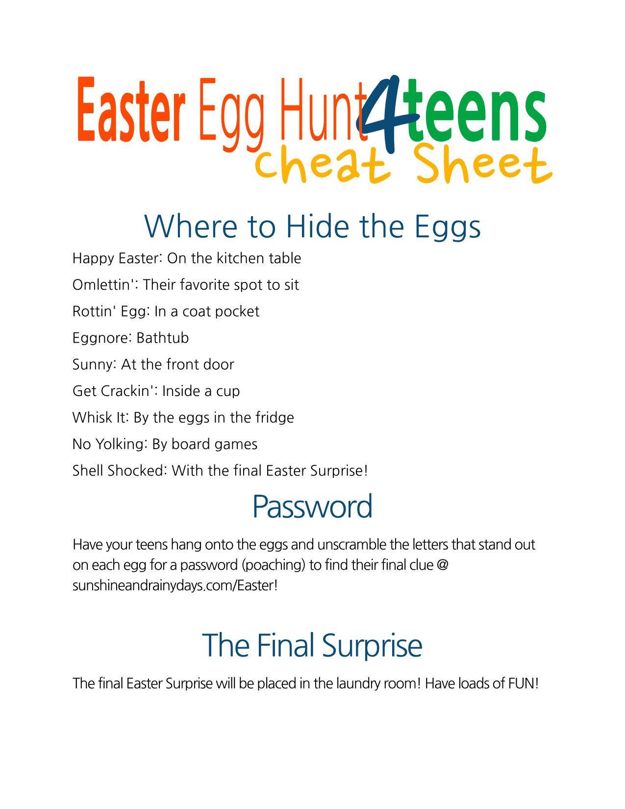 A Punny Easter Egg Hunt For Teens
