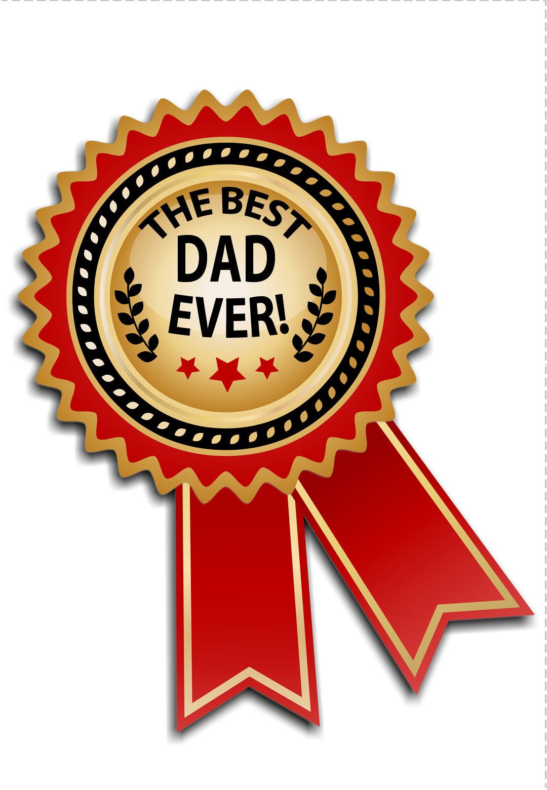 Free Printable Best Dad Medal Greeting Card Father S Day Greeting Cards Happy Fathers Day Cake Father S Day Card Template