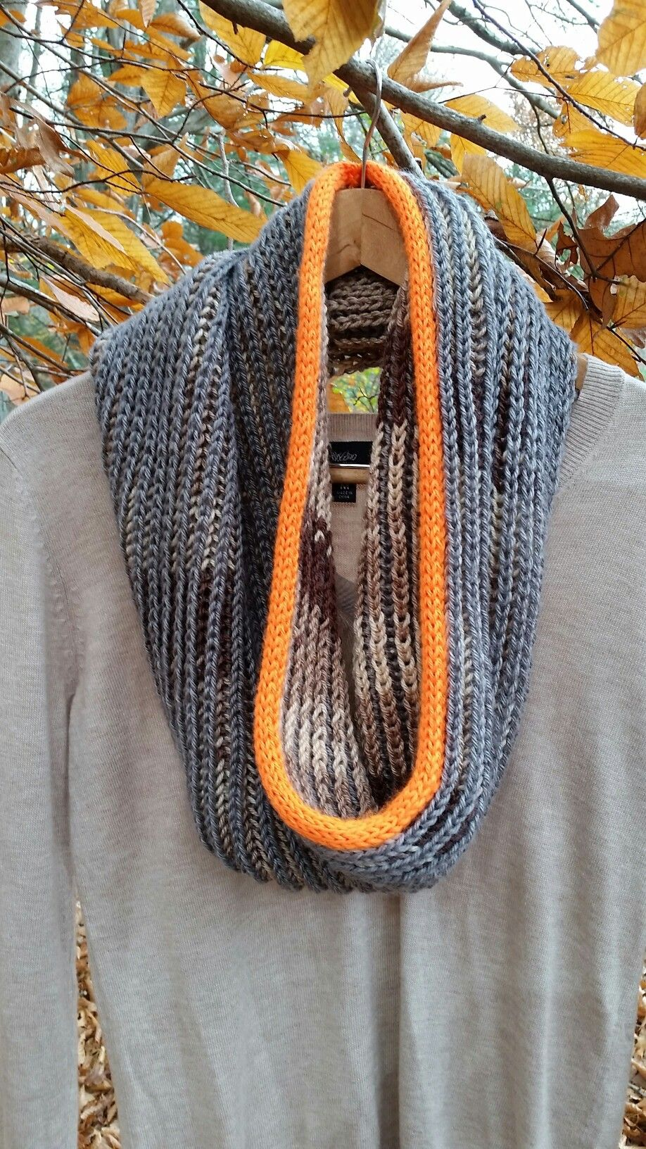 Shadow Cowl knit pattern from Yarnspirations.com made with Caron ...