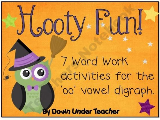 Hooty Fun - 7 Word Work activities for the /oo/ vowel digraph.