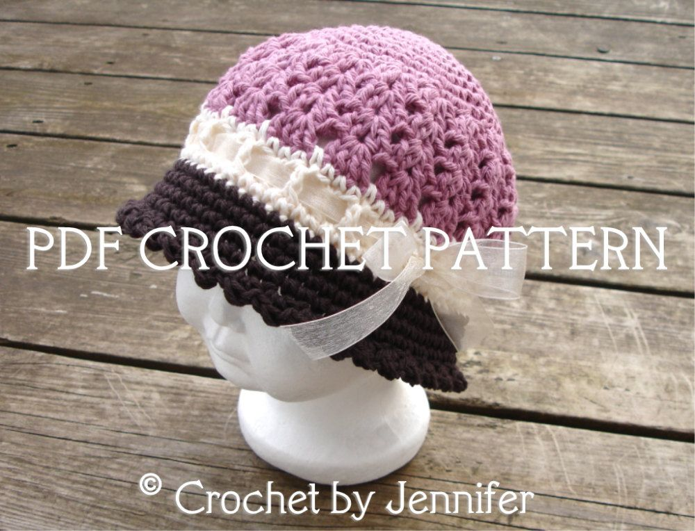 Crochet Pattern for Katrina Cloche Hat - 5 sizes, baby to adult ...