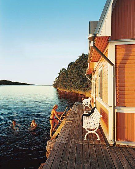 A seaside sauna on Föglö, one of 6,500 islands in the Åland ...