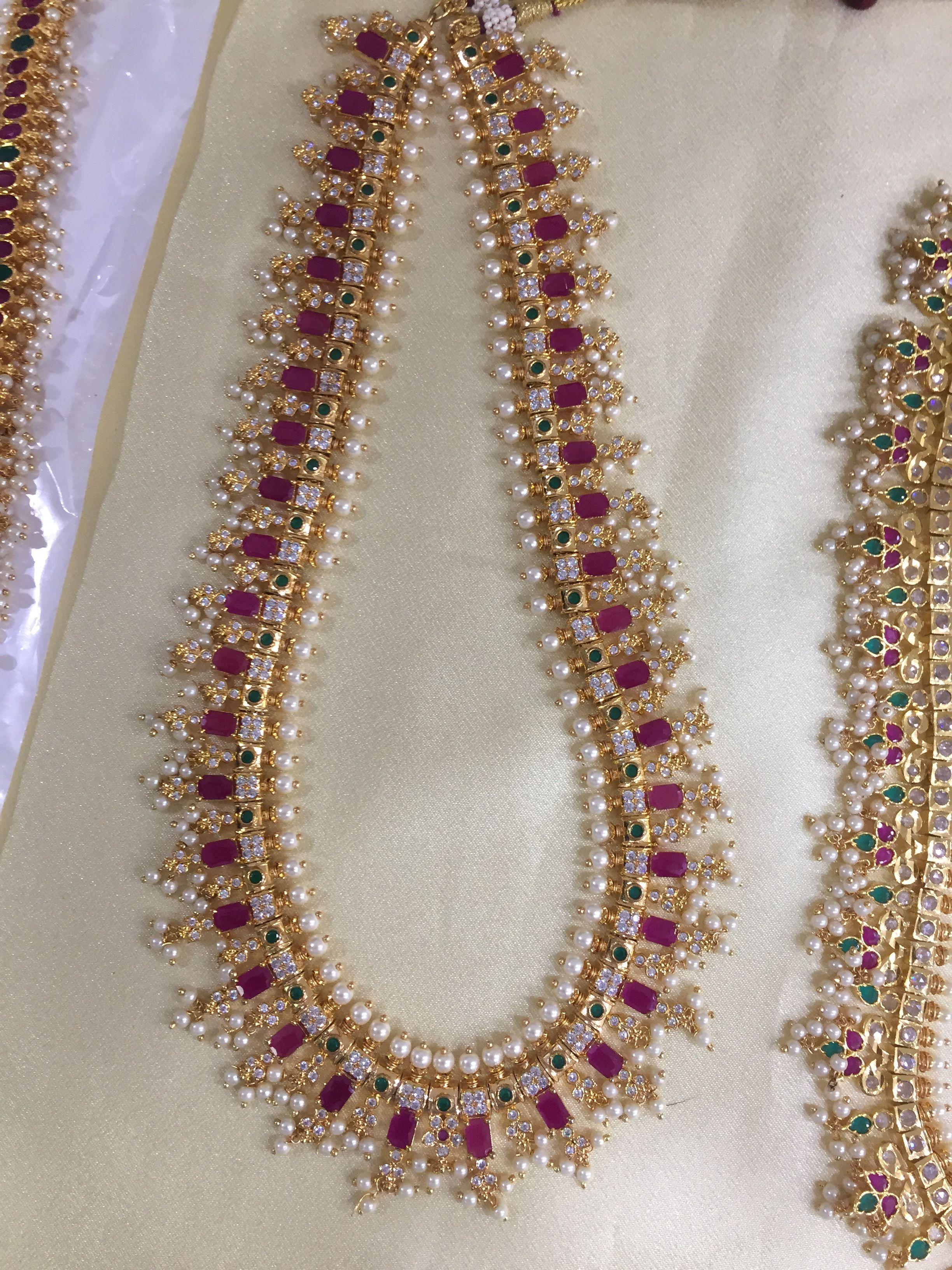 Designer Guttapusalu Haram Necklace 9849713635 Gold