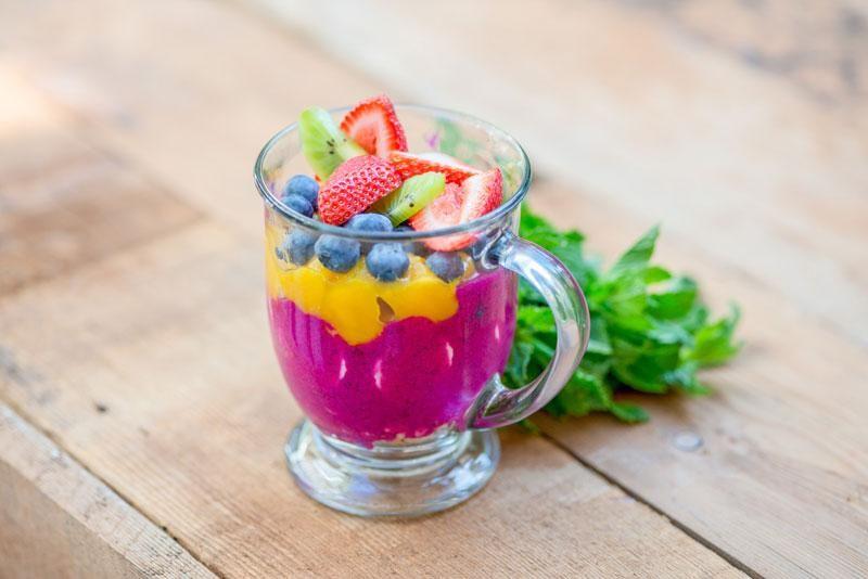 Fruitopia bowl healthy fruit smoothies pitaya smoothie