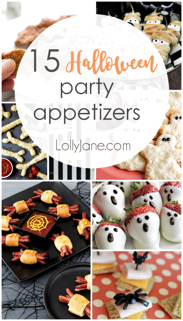 15 Halloween party appetizers. Such fun Halloween food, love these Halloween party ideas!
