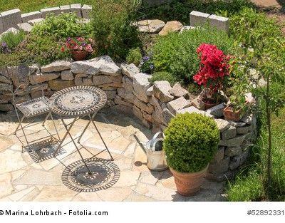 mediterraner Garten - Sitzplatz whirlpoolgestaltung Pinterest