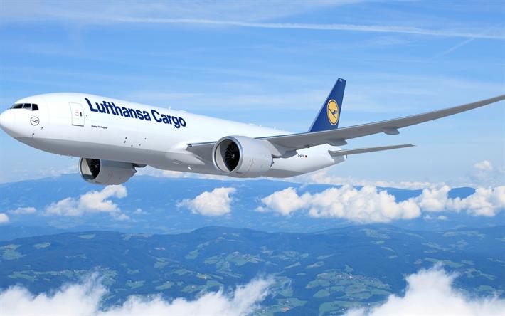 Scarica sfondi Boeing B777, Trasporto aereo, trasporto