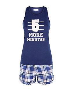 b0072c045 Teens Blue 5 More Minutes Pyjama Set | New Look | My Style | Girls ...
