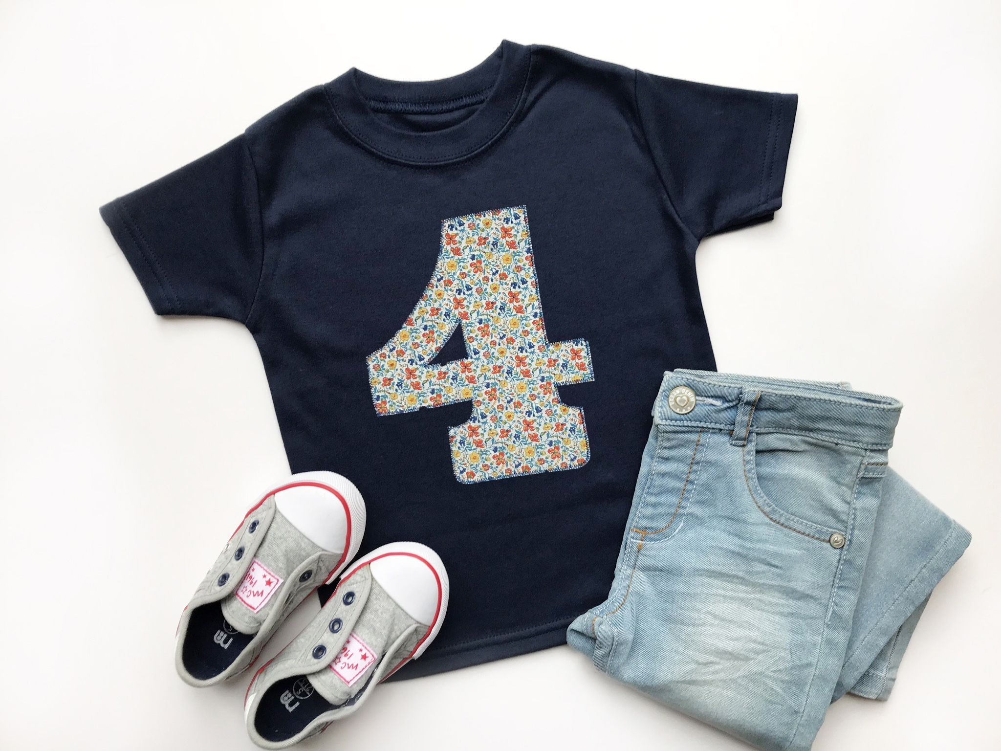 Photo of 4th Birthday Appliqué Top With Liberty Of London