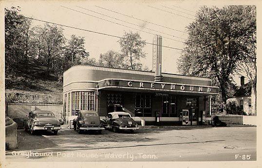 Greyhound Bus Station In Waverly Tn 1930 S 40 S Greyhound Bus Greyhound Classic Architecture
