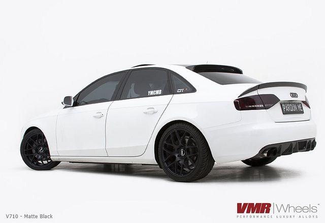 Vmr Wheels 19 Matte Black V710 On B8 Audi Ibis White A4 Audi Cars Audi Audi A4