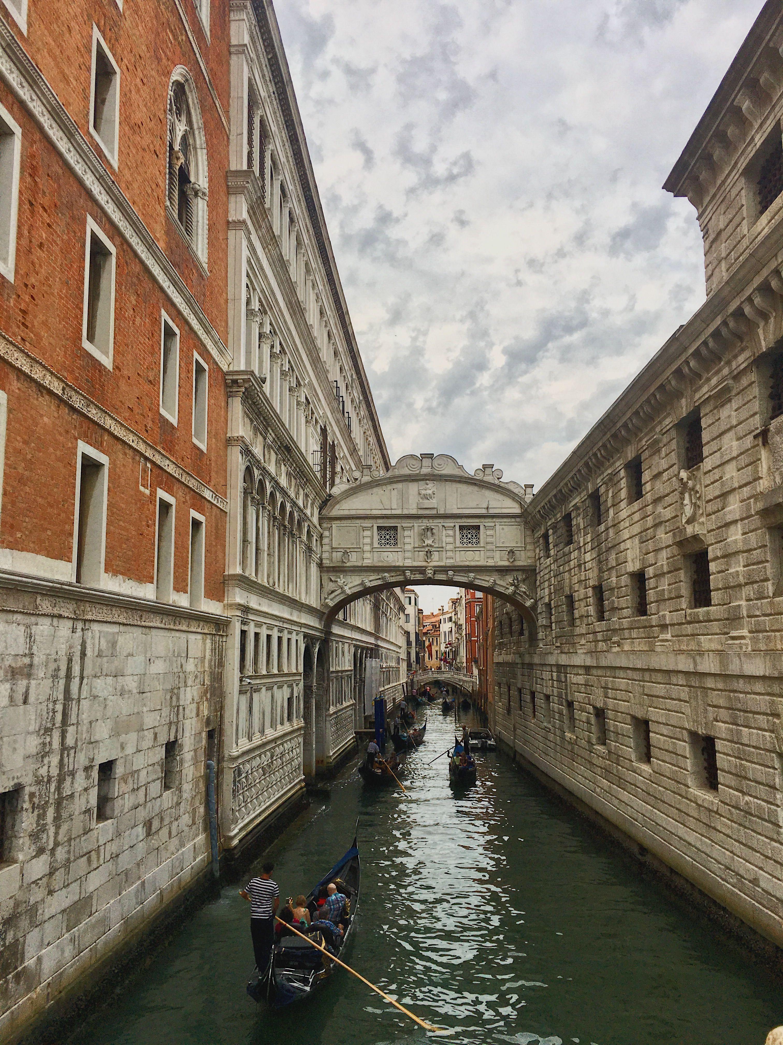 Venecia Italia Venecia Italia Puente De Los Suspiros Venecia