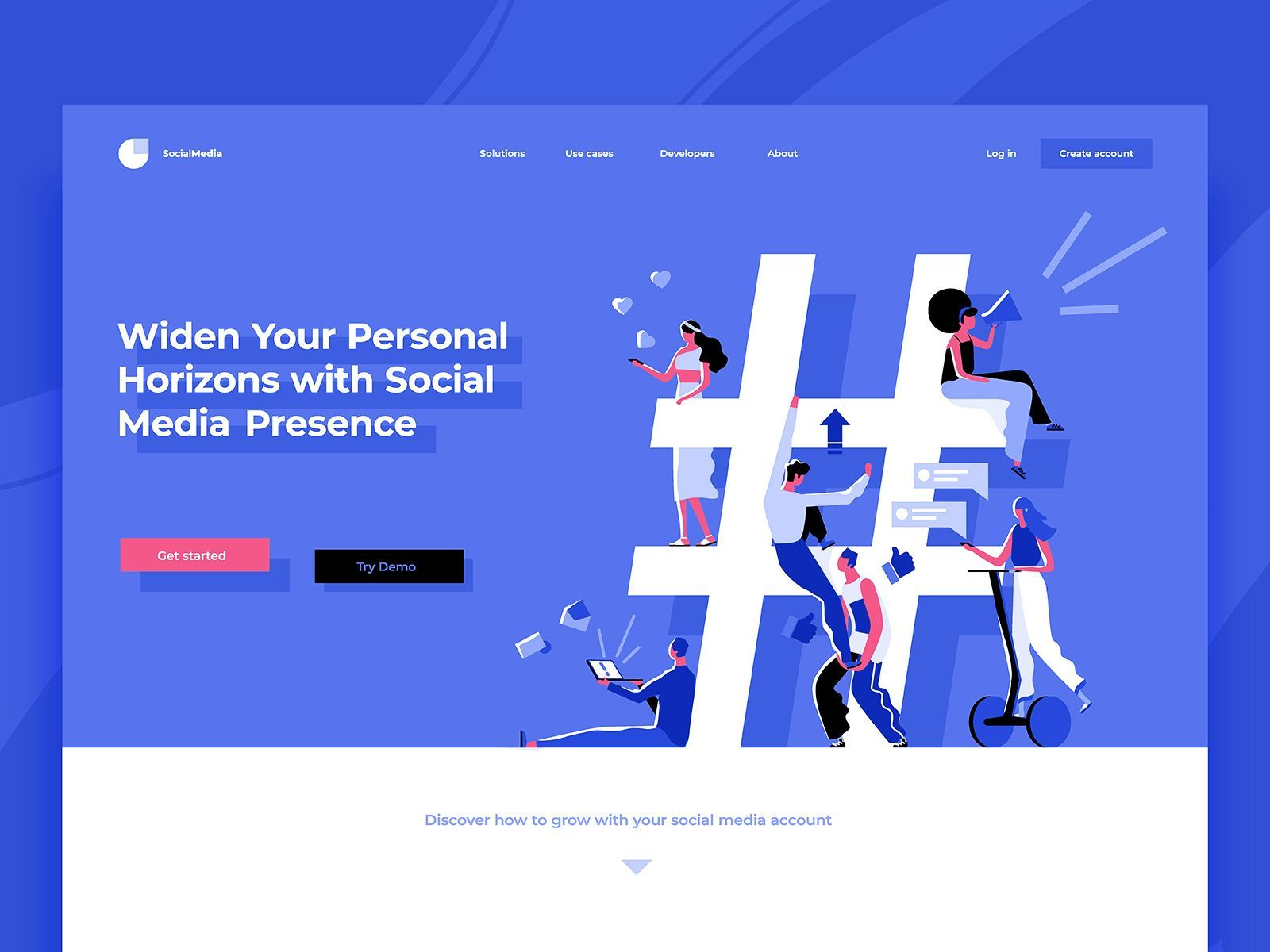 Made By Dribbble Com Dmit Amazing Work Tag Somebody Who Would Love This Uxflavors Uxflavors Ux Uxdesi Social Media Social Media Design Media