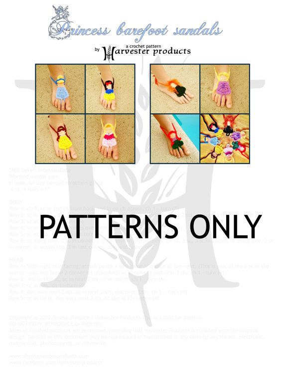 Disney styled Princess Barefoot Sandals by HarvesterProducts, $9.95