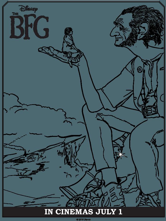 The BFG Coloring Sheets Free Printables