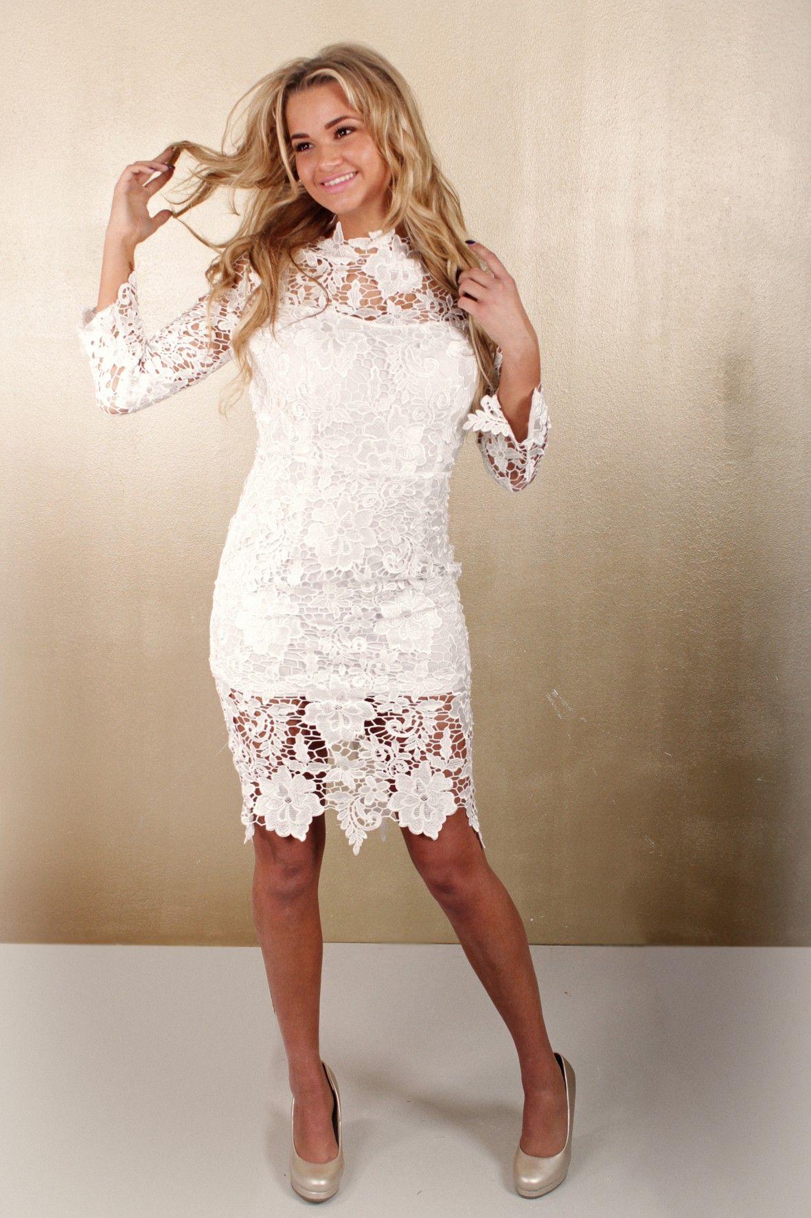 Bekend Wit kanten jurkje shop em online bij www.miss-p.nl | *Outfits  NJ07
