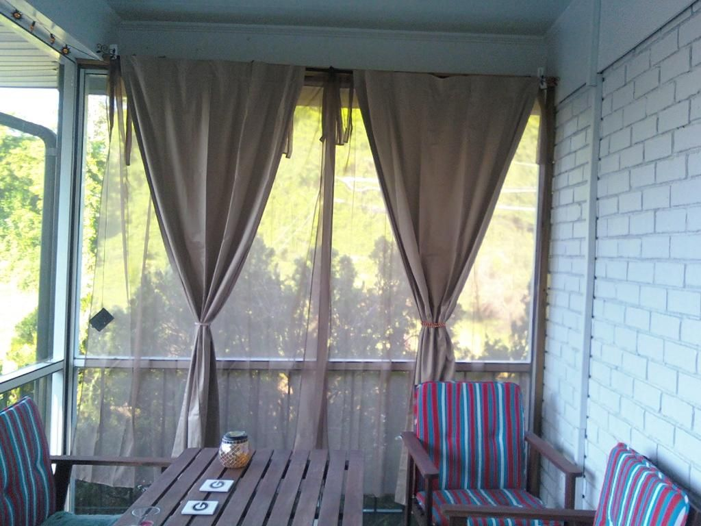 Front Porch Curtains + Mosquito Netting. Great Idea If Youu0027re Living In The