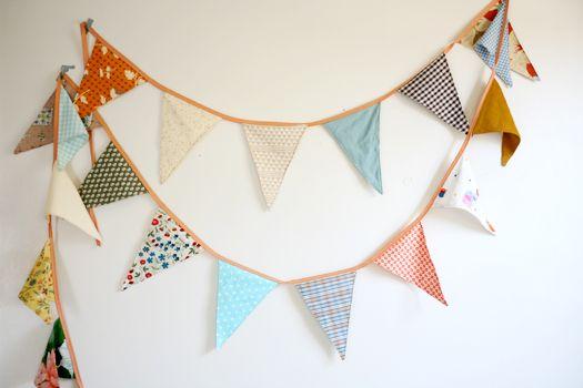Hang Fabric Bunting In The Nursery