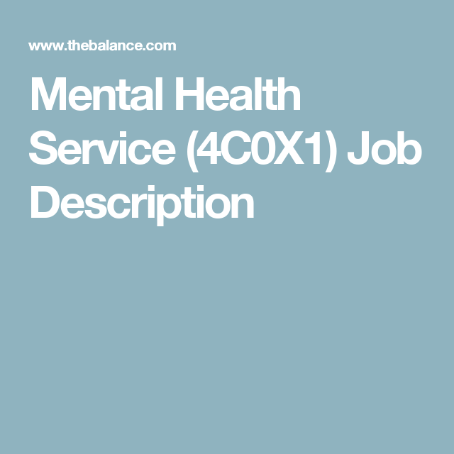 Mental Health Service CX  Air Force Enlisted Jobs  Mental