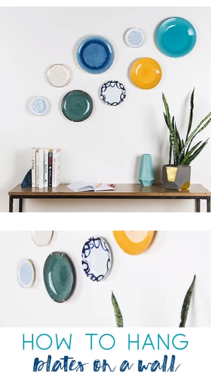 How to Hang Plates on a Wall -   22 home decor for cheap diy wall art ideas