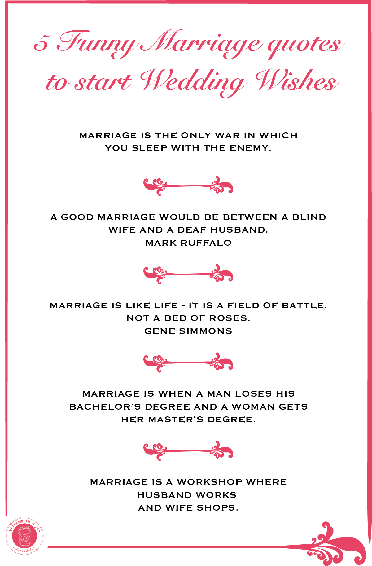 5 Funny Marriage Quotes To Start Wedding Wishes Click Through For More Weddingwishes Marriagequot Wedding Wishes Marriage Quotes Funny Funny Wedding Cards