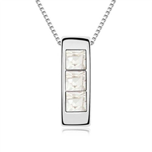 exquisite shine jewellery necklace by swarovski elements white