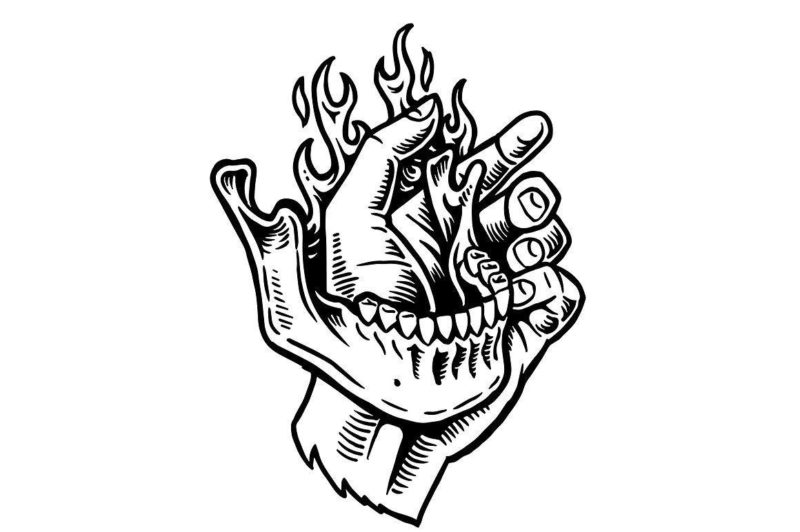 Jaw Line Tattoos: Jaw Bone #line#boards#Art#white In 2019