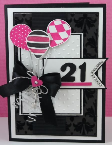 21st Birthday Card Birthday Cards 21st Birthday Cards Handmade Birthday Cards